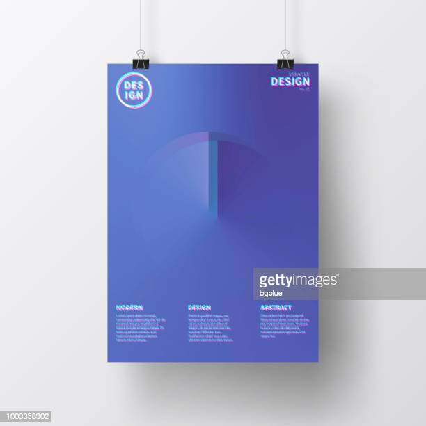 poster with abstract design, isolated on white background - multiple exposure stock illustrations, clip art, cartoons, & icons