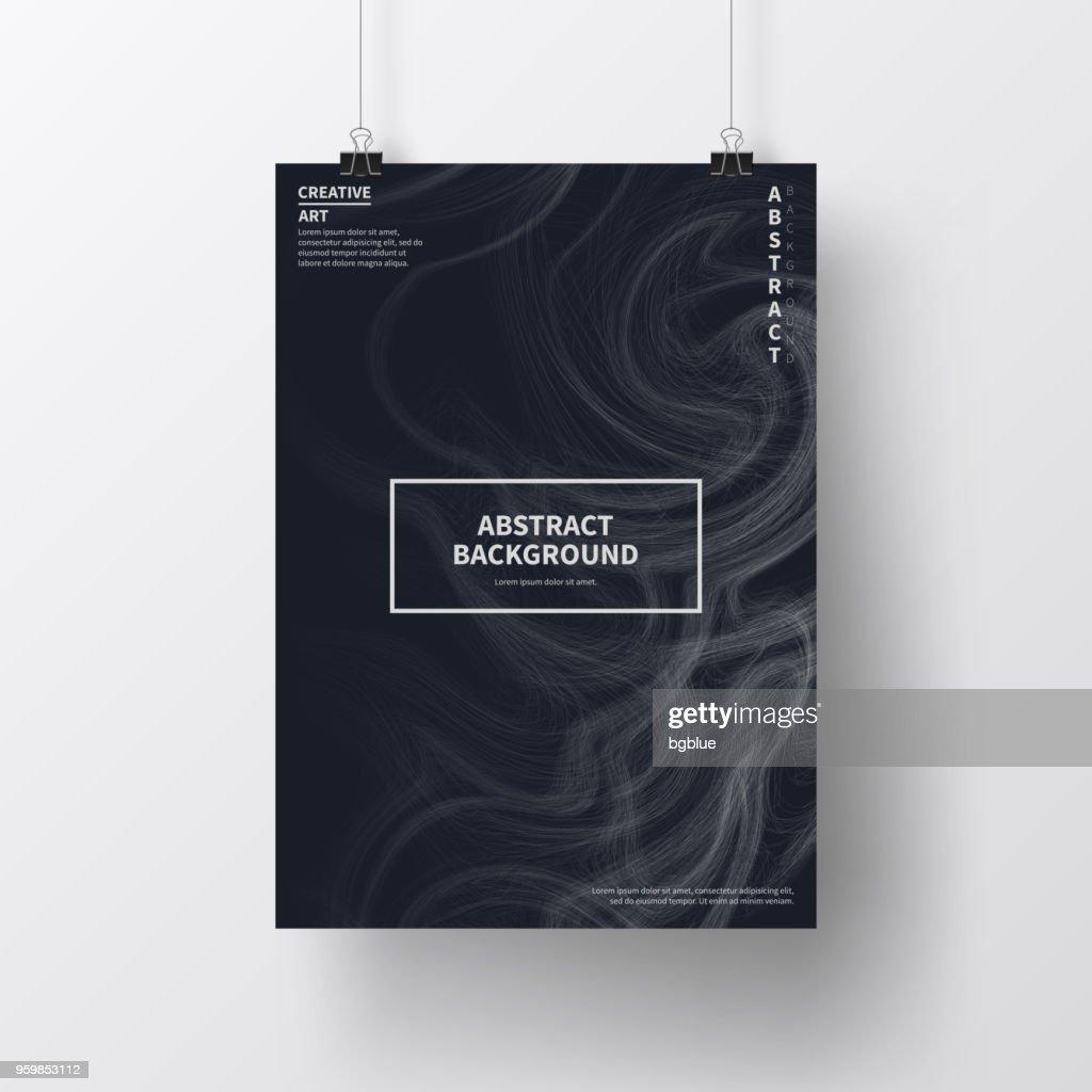 Poster mit dunklen futuristisches Design, isoliert auf weißem Hintergrund : Stock-Illustration