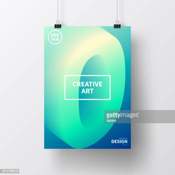 Poster with number zero 0 colorful, isolated on white background
