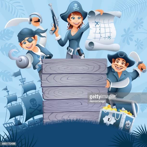 ilustraciones, imágenes clip art, dibujos animados e iconos de stock de cartel de piratas - obesidad infantil