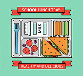 Poster with school lunch