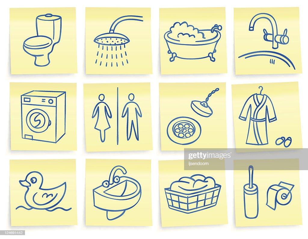 'Post-it' bathroom icons