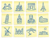 """Post-it"" landmark icons"