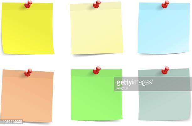 postit notes set - post it stock illustrations