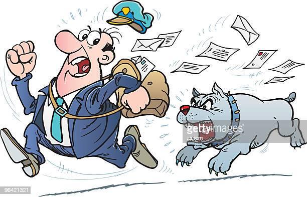 Postman and dog