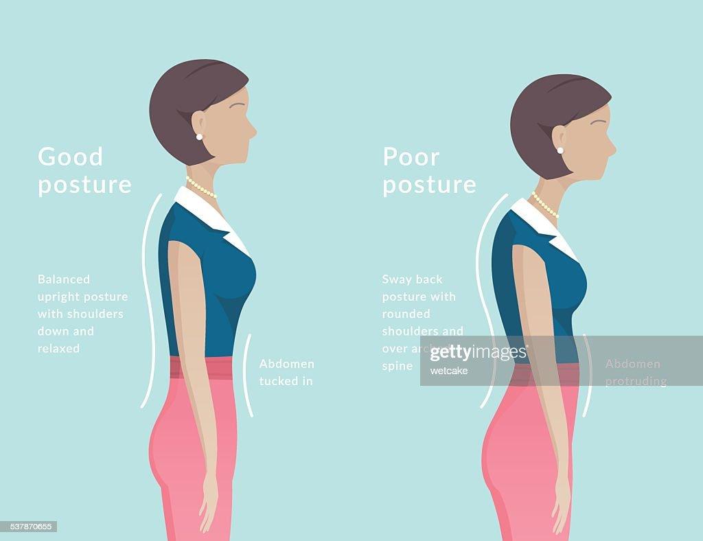 Posture : stock illustration