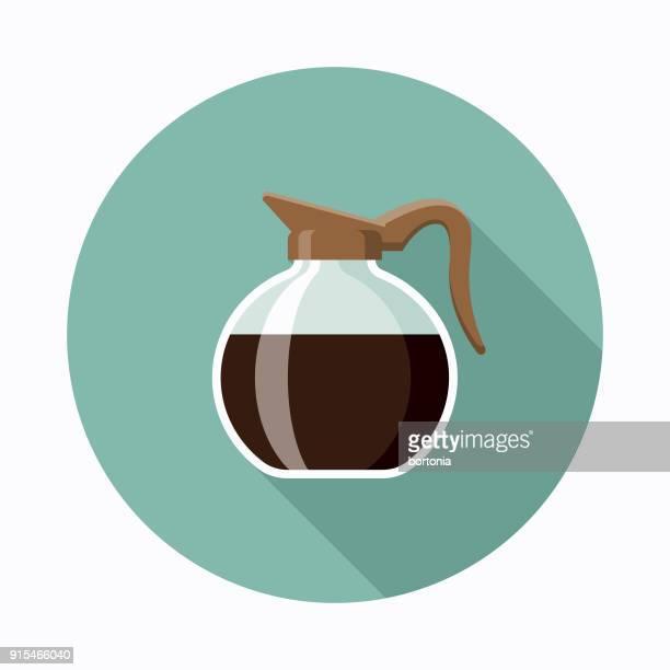 Pot Flat Design Coffee & Tea Icon