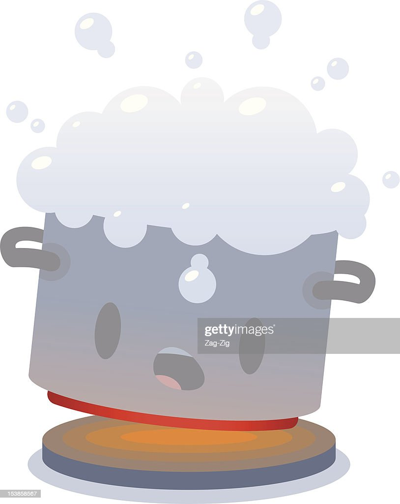 Pot of Milk Boiling over