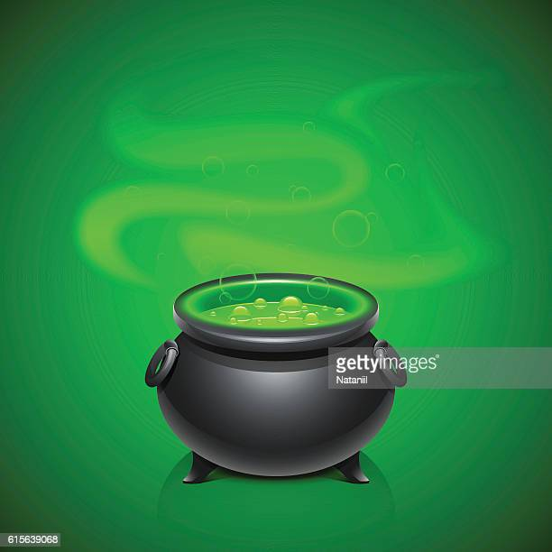 pot with magical potion - potion stock illustrations