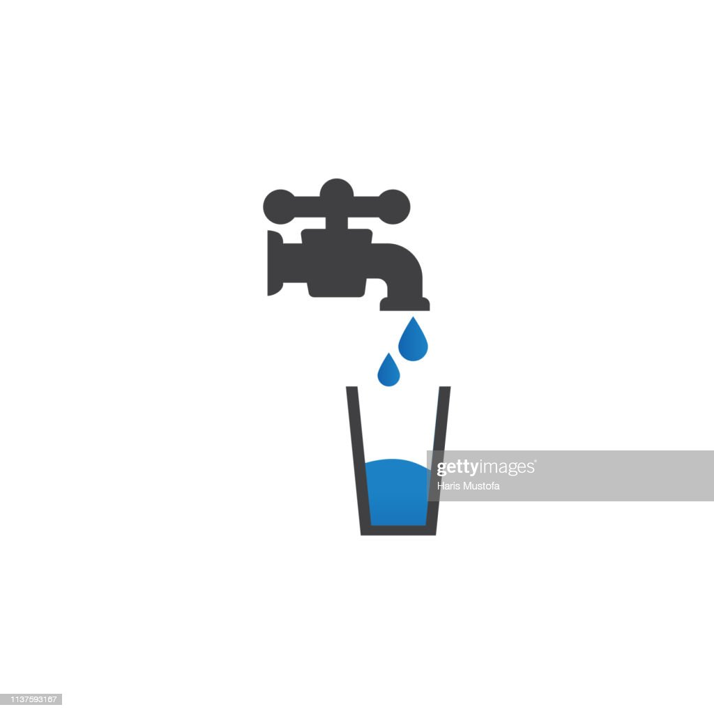 Potable water icon design template vector isolated