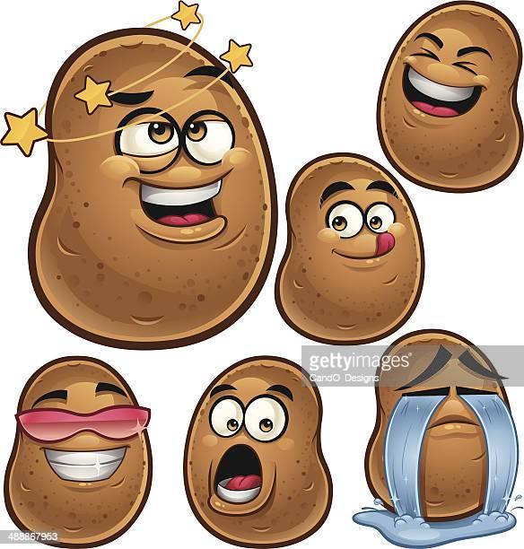Potato Cartoon Set A