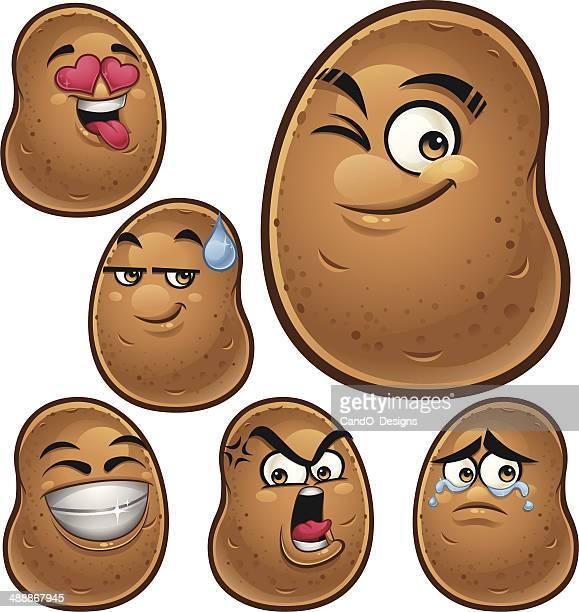 Potato Cartoon Set B