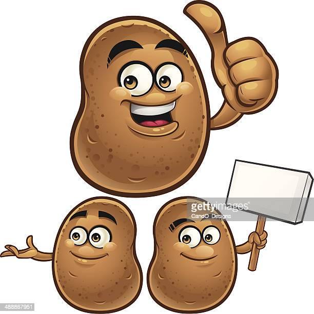 ilustraciones, imágenes clip art, dibujos animados e iconos de stock de patata de historieta c - patatas preparadas