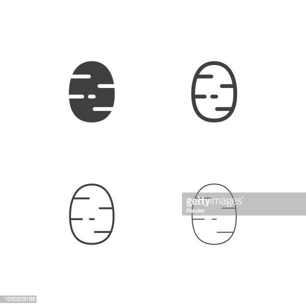 ilustraciones, imágenes clip art, dibujos animados e iconos de stock de iconos de la patata - serie multi - patatas preparadas