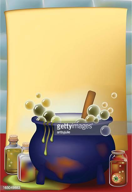 potions cauldron - cauldron stock illustrations, clip art, cartoons, & icons