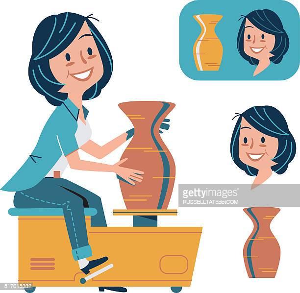 pottery and ceramics - ceramics stock illustrations, clip art, cartoons, & icons