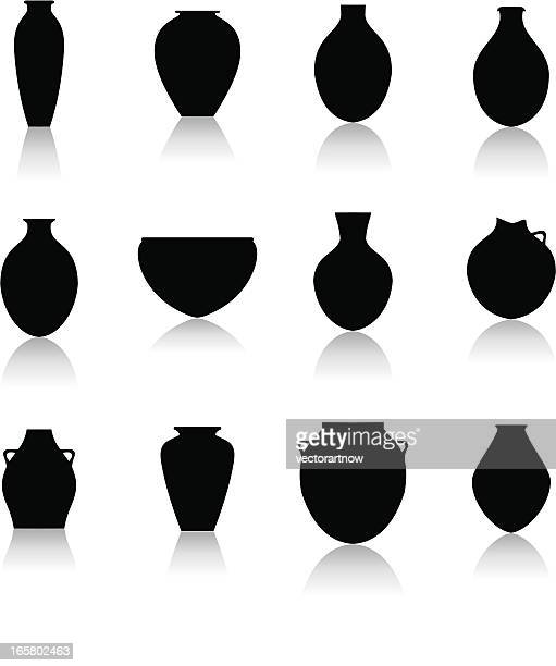 pottery icon - archaeology stock illustrations