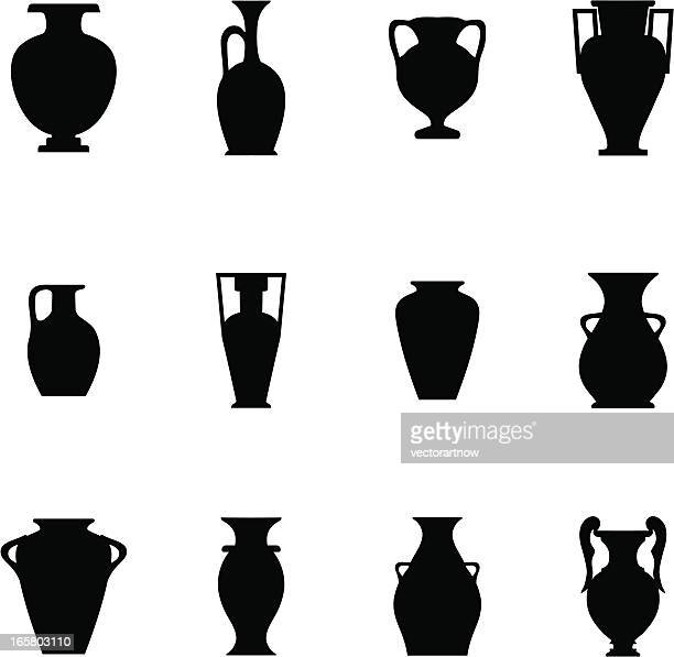 pottery icon - classical greek style stock illustrations