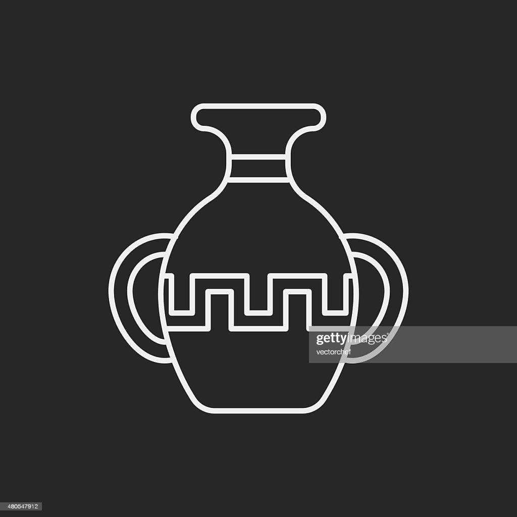 Icono de cerámica : Arte vectorial