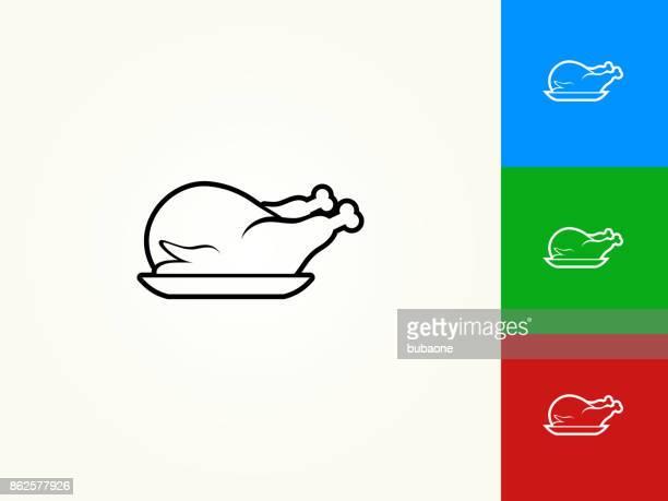 Poultry Dish Black Stroke Linear Icon