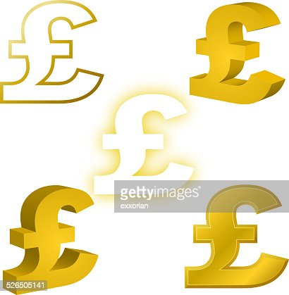 Pound Currency Symbol Vector Art Getty Images