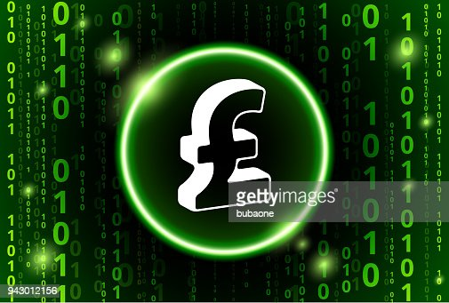 Pound Sign Binary Code Vector Pattern Background Vector Art Getty
