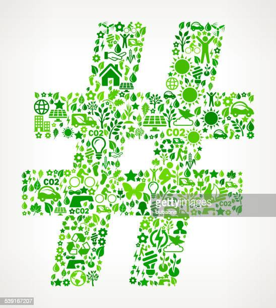 pound sign environmental conservation and nature interface icon pattern - hashtag stock illustrations