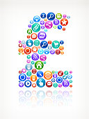 Pound Sign Social Networking and Internet royalty free vector arts