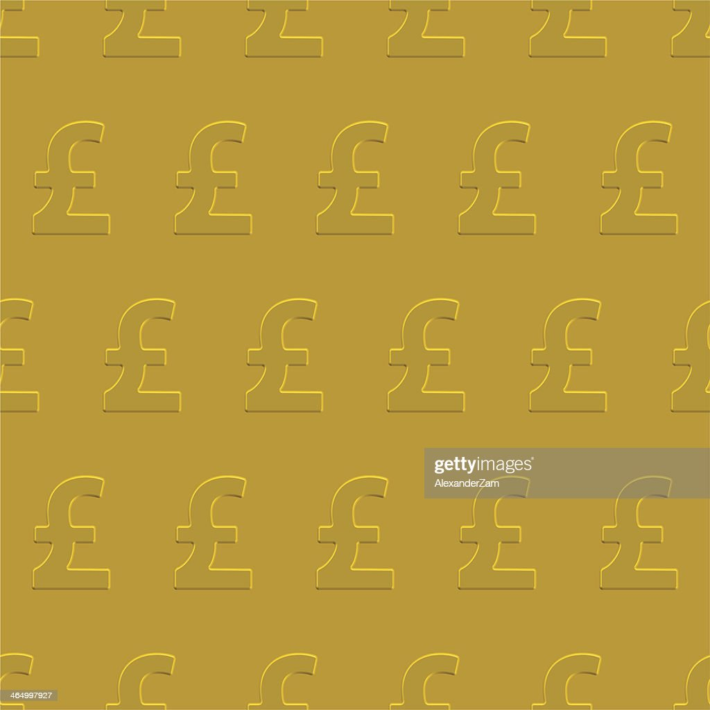 Pound sterling seamless pattern