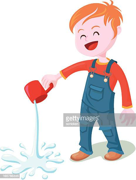 pour the water out - spill stock illustrations, clip art, cartoons, & icons