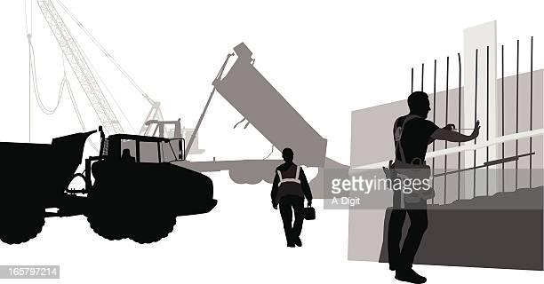 ilustraciones, imágenes clip art, dibujos animados e iconos de stock de pouringconcrete - obrero