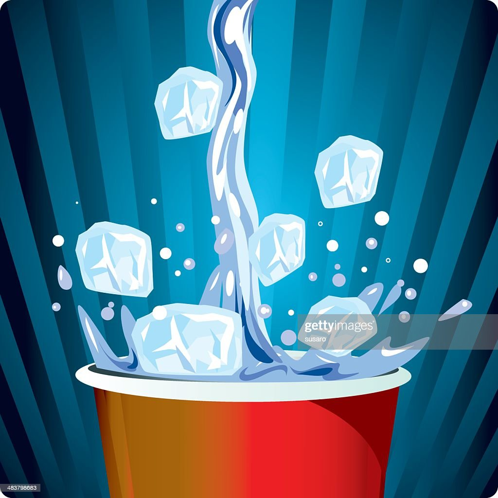 pouring n' splashing : stock illustration