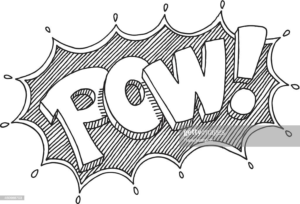 Pow! Comic Lettering Drawing