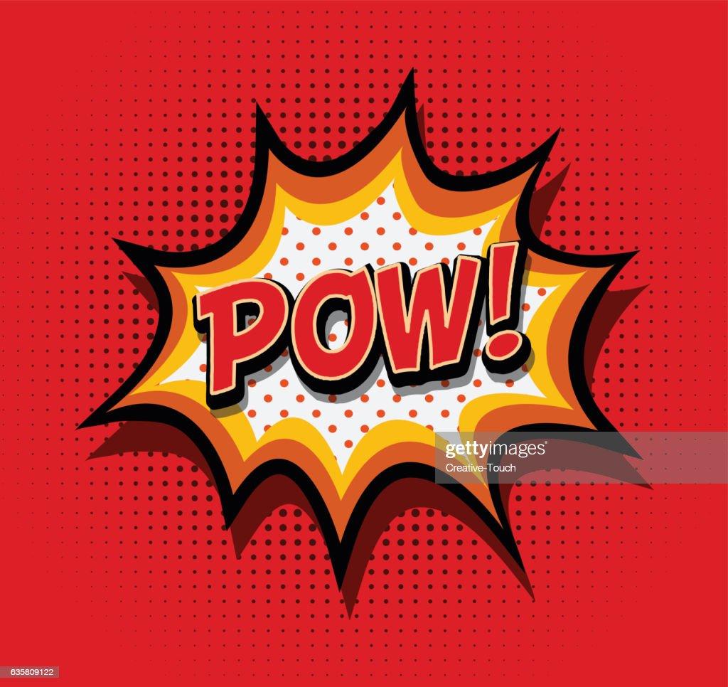 Pow! - Comic Speech Baloon