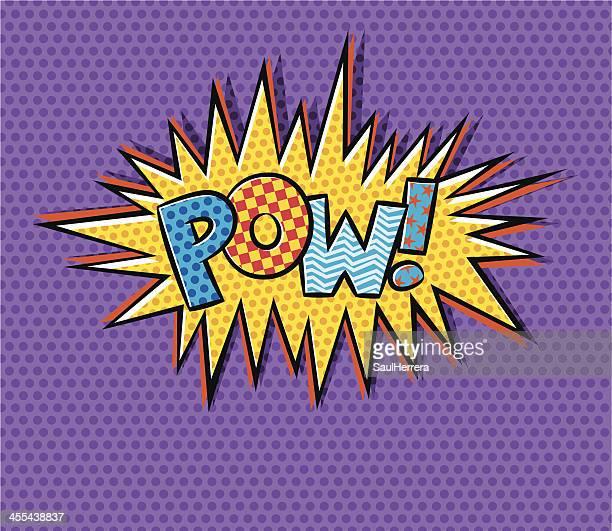 illustrations, cliparts, dessins animés et icônes de fête pow! - impact