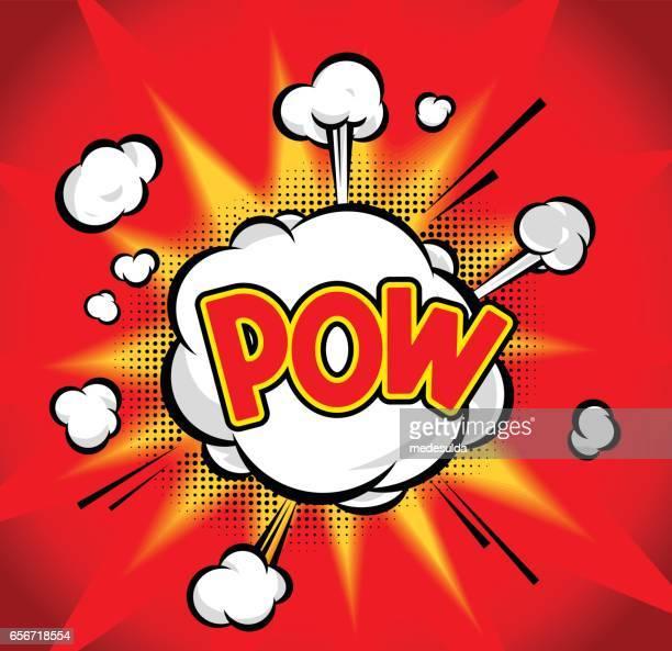 pow - dynamite stock illustrations