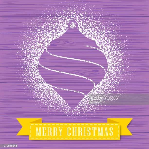 powdered sugar decorate a christmas ornament shape - powder paint stock illustrations