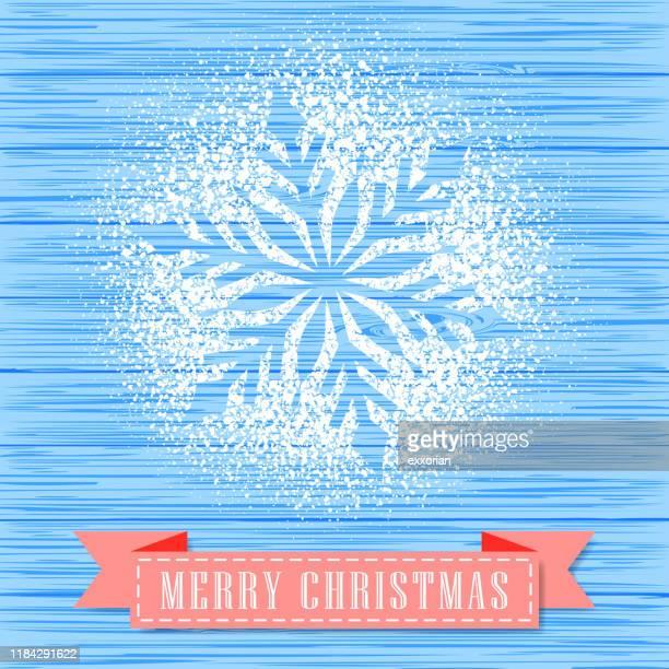 puderzucker dekorieren eine schneeflocke form - farbpulver stock-grafiken, -clipart, -cartoons und -symbole