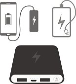 Power bank icons