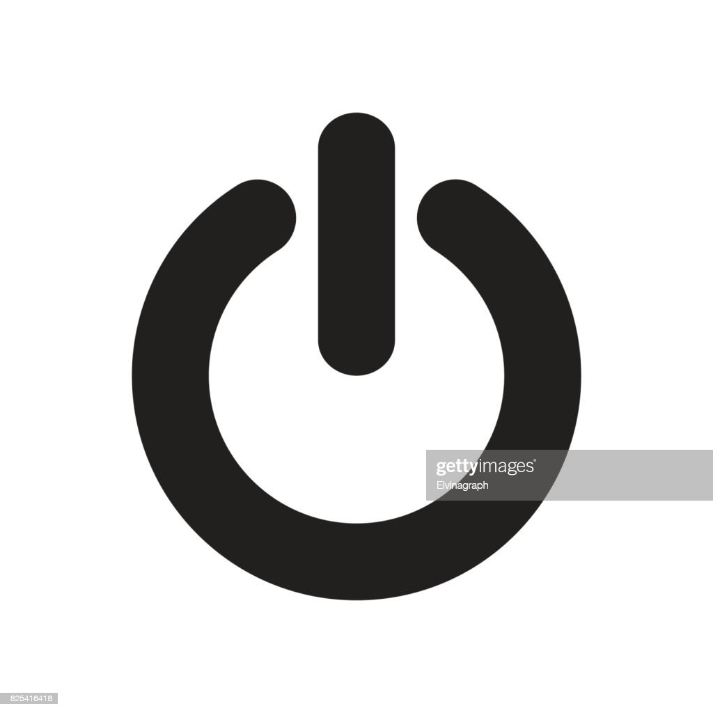 power button, outline,isolated vector