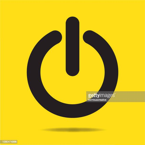 power button sign icon - start button stock illustrations, clip art, cartoons, & icons