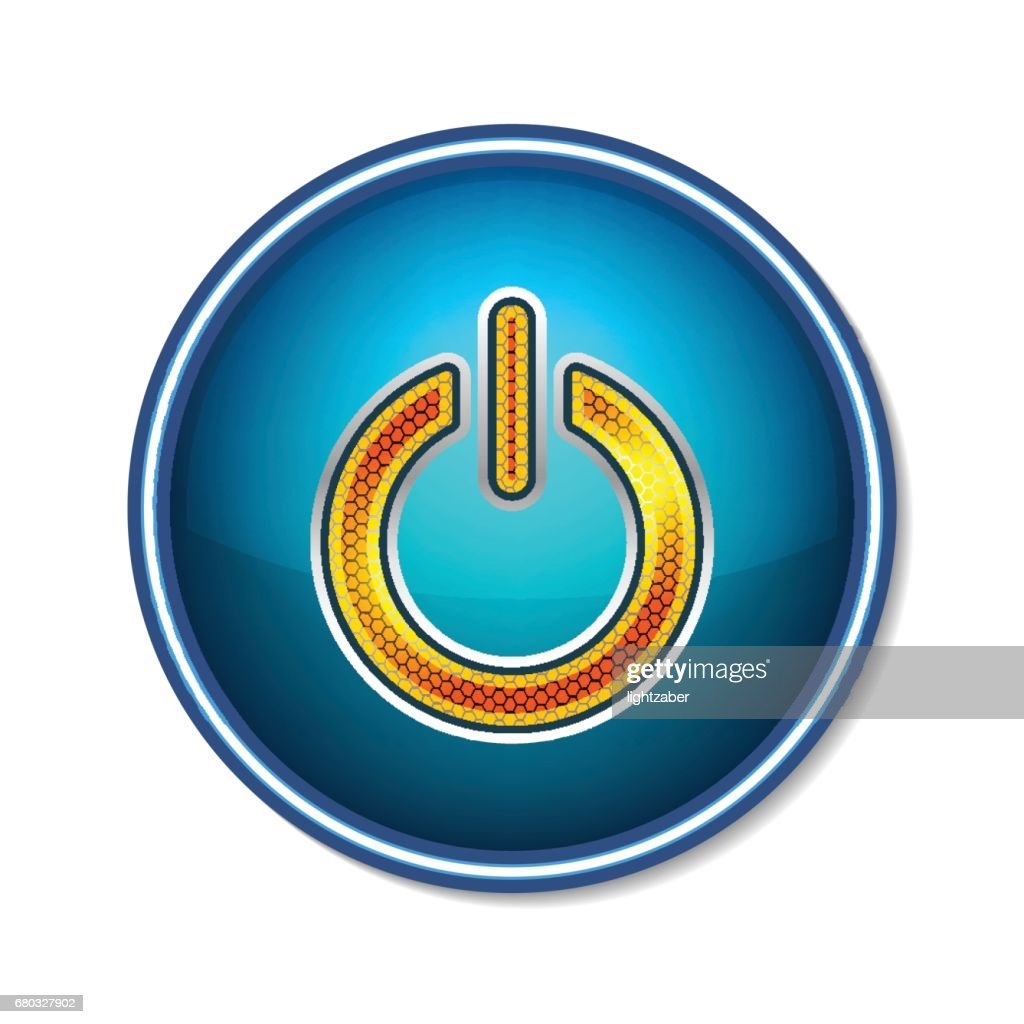 Power Button Symbol Icon Technology Vector