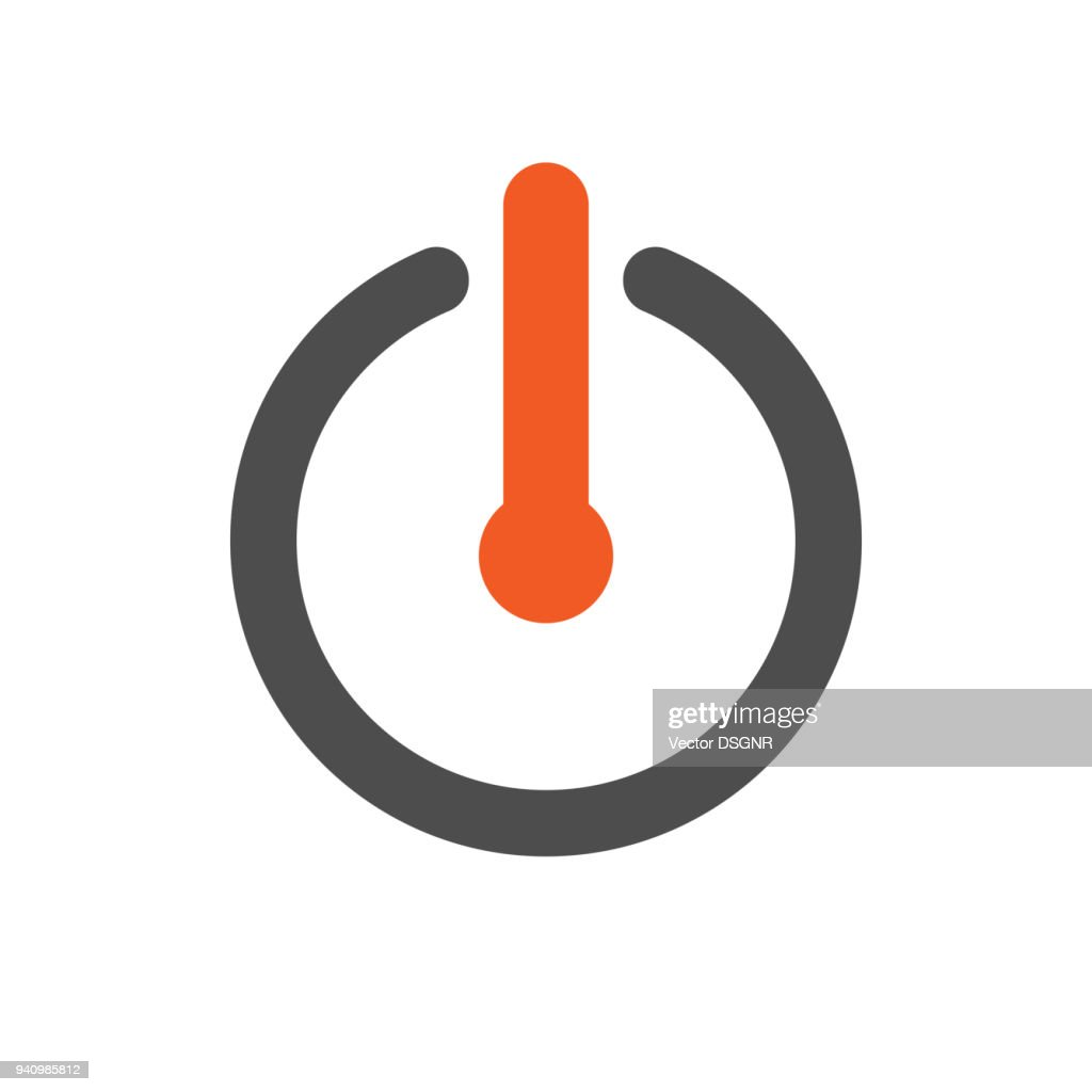 Power button. Turn off icon. Vector