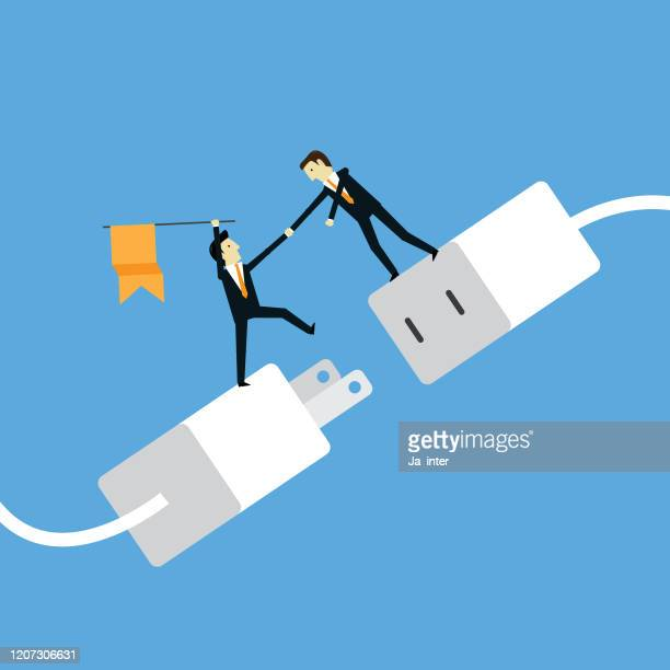 power connection - adaptor stock illustrations