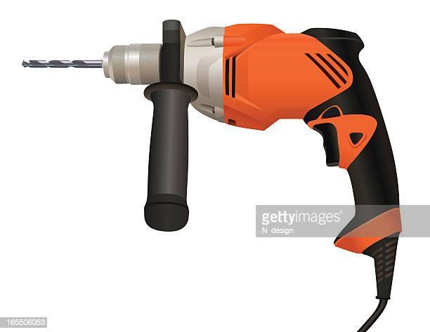 power drill - power tool stock illustrations, clip art, cartoons, & icons