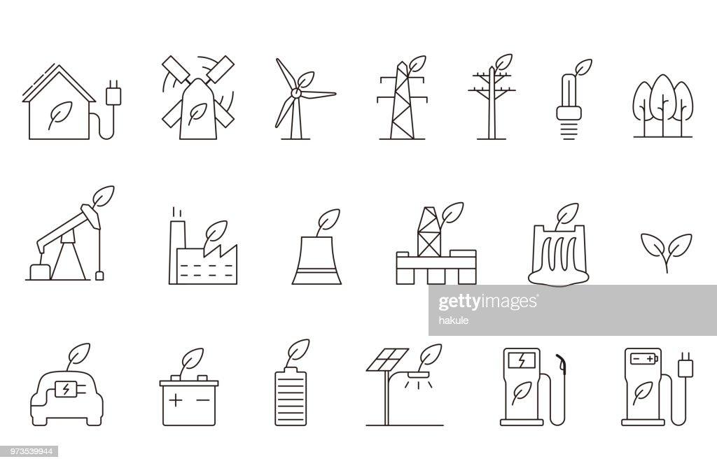 power energy icon set, vector illustration : stock illustration