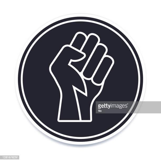 power fist symbol icon - activist icon stock illustrations