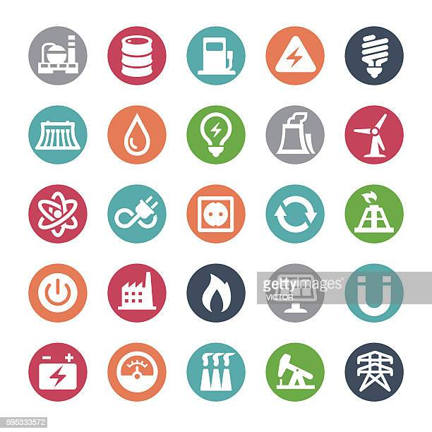 Power Generation and Fuel Icons - Bijou Series
