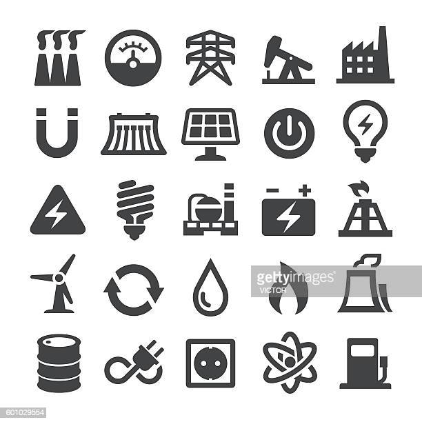 power generation and fuel icons - smart series - car battery stock illustrations, clip art, cartoons, & icons