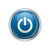 Power icon on the  button